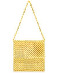 Faithfull The Brand Beaded Clutch Bag - Yellow