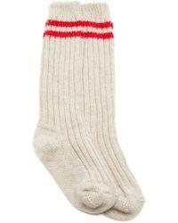 The Elder Statesman - M'o Exclusive Yosemite Ribbed Tube Socks - Lyst