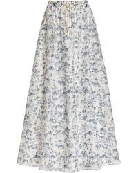 Sir. The Label - Dimitri Printed Cotton-silk Maxi Skirt - Lyst