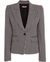 Michael Kors - Gingham Cotton-wool Blazer - Lyst