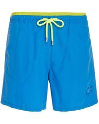 daddcdcd39d94 Onia Calder Two-tone Swim Trunks in Blue for Men - Lyst