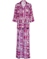 Prabal Gurung Exclusive Tie-dye Silk Pajama Set - Purple