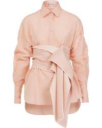 Maticevski Faithful Shirt With Cummerbund - Pink