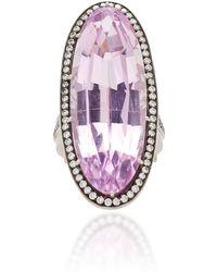 Sylva & Cie - 18k White Gold, Kunzite And Diamond Ring - Lyst