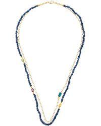 Objet-a Layered 18k Gold, Sapphire And Tourmaline Necklace - Metallic