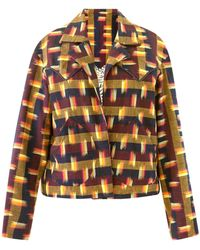 Alix Of Bohemia Dune Drum Circle Ikat Jacket - Multicolour