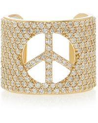 Sheryl Lowe 14k Gold And Diamond Ring - Metallic