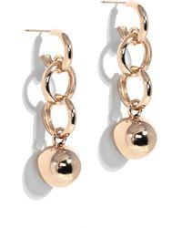 Young Frankk Gold-plated Dakari Drop Earrings - Metallic