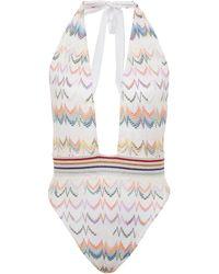 Missoni Crochet-knit One-piece Swimsuit - Multicolour