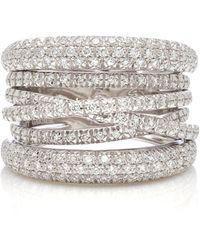 Sidney Garber - Scribble 18k White Gold And Diamond Ring - Lyst
