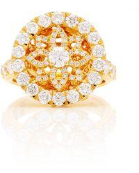 Buddha Mama - 20k Round Mandala Ring Set With Diamonds - Lyst