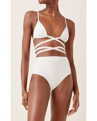 Matteau Wrap-front Triangle Bikini Top - White