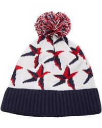 Perfect Moment Star Wool-blend Beanie - White