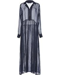 White Story Hera Organza Maxi Dress - Blue