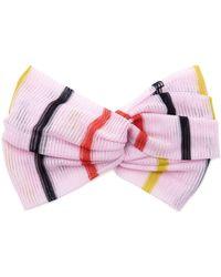Missoni Striped Crochet-knit Turban - Pink