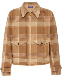 Ralph Lauren Harvick Plaid Wool And Cashmere-blend Jacket - Brown