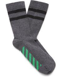 Off-White c/o Virgil Abloh - Striped Cotton-blend Sport Socks - Lyst