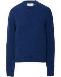 AMI - Donegal Crewneck Sweater - Lyst