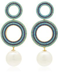 Joanna Laura Constantine | Gold-plated And Pearl Earrings | Lyst