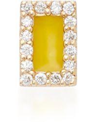Alison Lou - Rectangle 14k Yellow Gold And Diamond Stud Earrings - Lyst