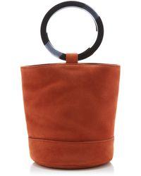 Simon Miller Bonsai 20 Leather Bucket Bag - Orange