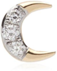 Pamela Love Crescent 14k Yellow Gold Diamond Single Earring - Metallic