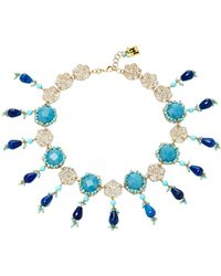 Rosantica | Gold-tone Brass Turquoise Necklace | Lyst