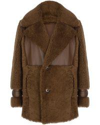 Zeynep Arcay Icelandic Leather-trimmed Shearling Jacket - Brown