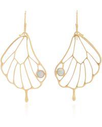 Annette Ferdinandsen Opal Pampion Wing Earring - Metallic