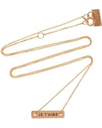 Vanrycke - Bonnie & Clyde 18k Rose Gold Necklace - Lyst