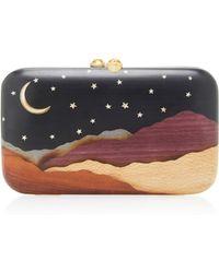 Silvia Furmanovich - Desert Moon And Stars Embellished Wood Clutch - Lyst