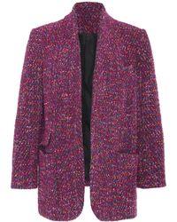 Veronica Beard Crispin Open-front Coat - Purple