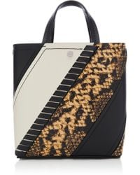 Proenza Schouler - Hex Small Panelled Snake-effect Leather Tote - Lyst