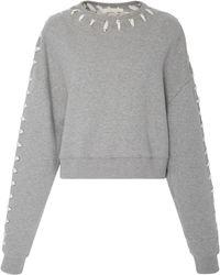 Jonathan Simkhai   Whip Stitch Crop Sweater   Lyst