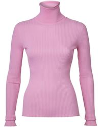Dodo Bar Or Stacy Ribbed Turtleneck - Pink