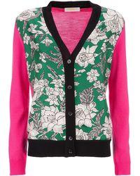 LaDoubleJ Gemini Silk-wool Two-tone Cardigan - Green