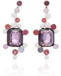 Martin Katz - One-of-a-kind Cushion Shaped Grey-purple Spinel Earrings - Lyst