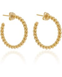 ISABEL LENNSE - Twisted Gold-plated Small Hoop Earrings - Lyst