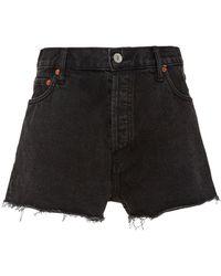 RE/DONE - High-rise Denim Shorts - Lyst