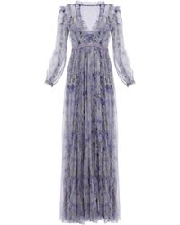 Needle & Thread Lilacs Ruffled Gown - Purple