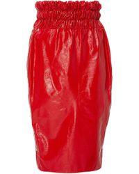 SemSem - Alexa Leather Skirt - Lyst