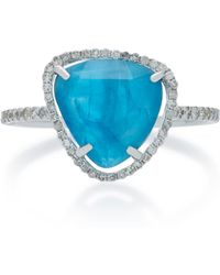 Meira T - Apatite 14k White Gold, Apatite And Diamond Ring - Lyst