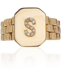 SHAY - Jubilee Initial Signet Ring - Lyst