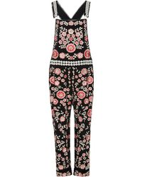 Needle & Thread | Black Cherry Blossom Embroidered Jumpsuit | Lyst