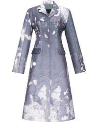 Bevza A Line Coat - Blue