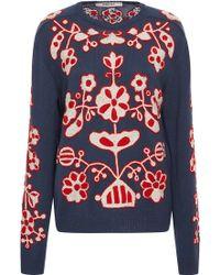 MARCH11 - Navy Derevo Embroidered Wool Sweater - Lyst