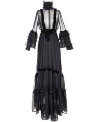 Djaba Diassamidze - Anna Velvet Embellished A-line Dress - Lyst