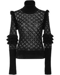 Jill Stuart - Jenny Ruffle Sweater - Lyst