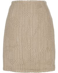 Madiyah Al Sharqi - Textured Mini Skirt - Lyst