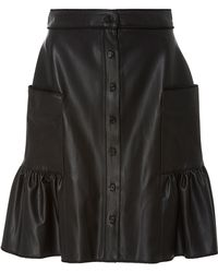 Alexis Mabille - Organic Leather Corolla Skirt - Lyst